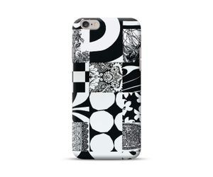 Abstract Pattern Black_White Phone Case