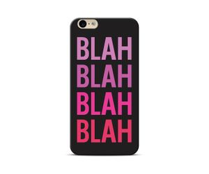 Blah blah black Phone Case