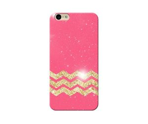 Pink-golden-zigzag Phone Case