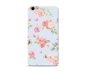 Blue polka roses Phone Case