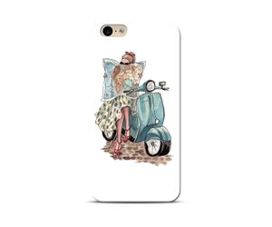 Girl on a scooter Phone Case