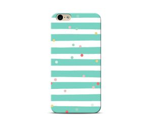Green stripes and Polka Dots Phone Case