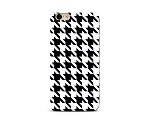 Houndstooth black Phone Case