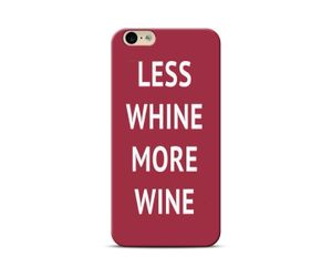 Less whine more wine Phone Case
