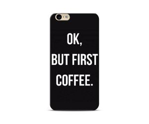 Ok, but first coffee black Phone Case