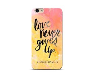 Love Never Gives Up Phone Case