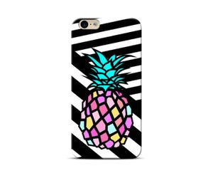 Pine-apple black Phone Case