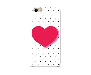Polka heart Phone Case