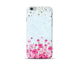 Roses with Goldern blobs Phone Case