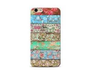 Wooden floral stripes Phone Case