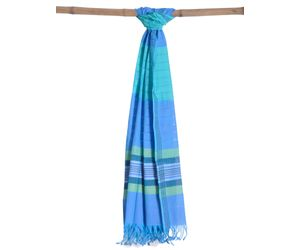 Blue Cotton Handloom Dupatta ds0680
