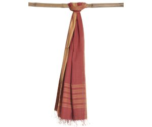 Rust Khadi Cotton Handloom Dupatta ds0688