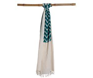 Teal Pochampally Or Ikat Cotton Handloom Dupatta ds0716