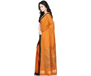 Khadi Cotton Handloom Saree with paper work pallu design