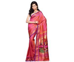Baby Pink Pure Handloom Paithani Silk Saree with Blouse