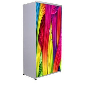 2 Door Wardrobe - Falling Curtains