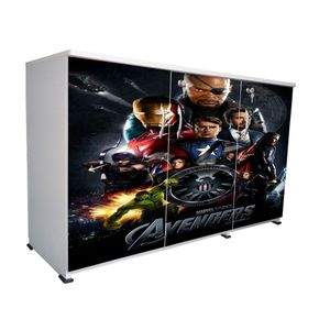 BigSmile 3 Door Multipurpose Storage Cabinet - Avengers (2.5ft x 4ft) Glossy Finish