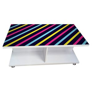 Coffee Table - Stripes (Glossy Finish)