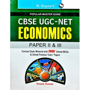 Cbse Ugc-Net Economics Junior Research Fellowship And Assistant Professor Exam Guide Paper 2,3 By Sanjay Kumar-(English)