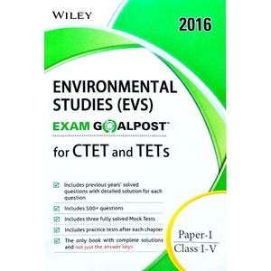 Environmental Studies (Evs), Exam Goalpost For Ctet And Tets Paper 1 Class 1 To 5 By Editorial Team-(English)