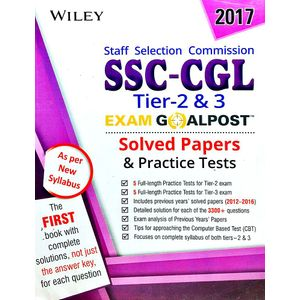 Wiley'S Ssc Cgl Tier 2 & 3 Exam Goalpost Solved Papers And Practice Tests By Editorial Team-(English)