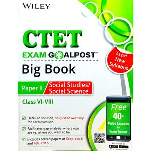 Wiley'S Ctet Exam Goalpost Big Book Paper 2 Social Studies Social Science Class 6 To 8 By Editorial Team-(English)