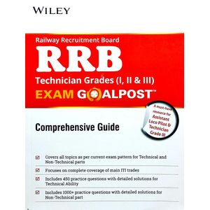 Wiley'S Railway Recruitment Board Rrb Technician Grades 1,2,3 Exam Goalpost Comprehensive Guide By Editorial Team-(English)