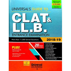 Universal'S Guide To Clat And Ll.B. Entrance Examination 2017-18 By Manish Arora-(English)