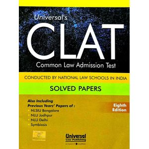 Universal'S Clat Solved Papers 2018 By Editorial Team-(English)