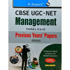 Cbse Ugc-Net Management Previous Years Papers 1,2,3 By Dr Sima Kumari-(English)