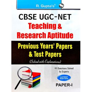 Cbse Ugc-Net Teaching & Research Aptitude Previous Years' Papers & Test Papers Solved By Rph Editorial Board-(English)