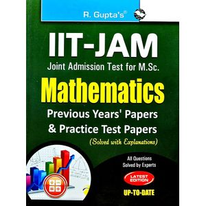Iit-Jam M.Sc. Mathematics Previous Papers & Practice Test Papers Solved By Rph Editorial Board-(English)