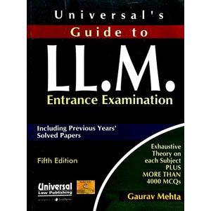 Universal'S Guide To Ll.M Entrance Examination By Gaurav Mehta-(English)