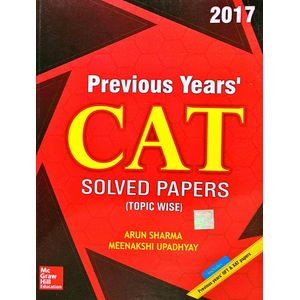 Previous Years Cat Solved Papers Topic Wise By Arun Sharma, Meenakshi Upadhyay-(English)