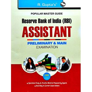 Reserve Bank Of India Assistants Preliminary & Main Recruitment Exam Guide By Rph Editorial Board-(English)