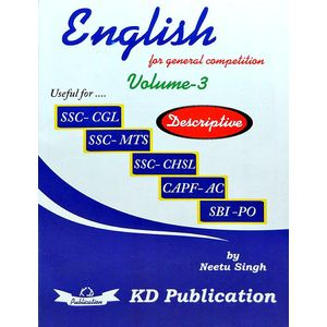 English For General Competitions Vol 3 By Neetu Singh-(English)