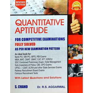 Quantitative Aptitude For Competitive Examinations By Dr R S Aggarwal-(English)