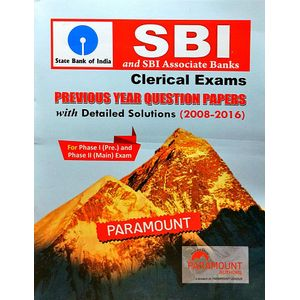 Sbi And Sbi Associate Banks Previous Year Question Papers With Detailed Solutions By Paramount Experts-(English)