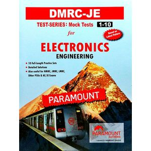 Dmrc-Je Monk Test Series(1-10) Electronics Engineering By Paramount Experts-(English)