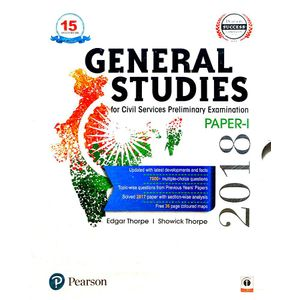 General Studies Paper 1 For Civil Services Preliminary Examination By Edgar Thorpe, Showick Thorpe-(English)