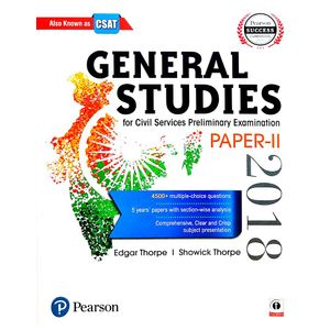 General Studies Paper 2 For Civil Services Preliminary Examination By Edgar Thorpe, Showick Thorpe-(English)