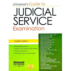 Universal'S Guide To Judicial Service Examination By Editorial Team-(English)
