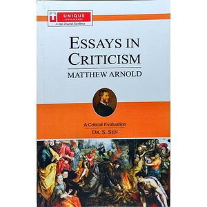 Matthew Arnold Essays In Criticism By Dr S Sen-(English)