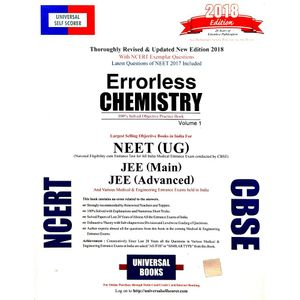Universal Self-Scorer Errorless Chemistry For Neet Volumes 1,2 By Editorial Team-(English)