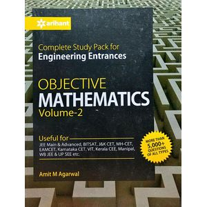 Complete Study Pack For Engineering Entrances Objective Mathematics For Engineering Entrances Vol 2 By Amit M Agarwal-(English)