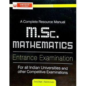 M.Sc. Mathematics Entrance Examination By Suraj Singh,Rashmi Gupta-(English)