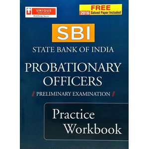State Bank Of India Probationary Officers Preliminary Examination Practice Workbook By Editorial Team-(English)