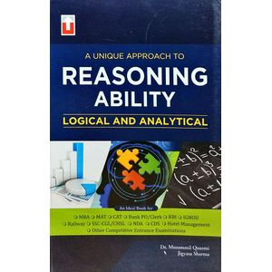 Reasoning Ability Logical And Analytical By Dr Md Mubashshir Quasmi, Jigyasa Sharma-(English)