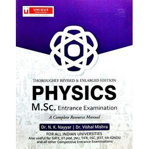 Physics M.Sc. Entrance Examination By Dr Nk Nayyar, Dr Vishal Mishra-(English)