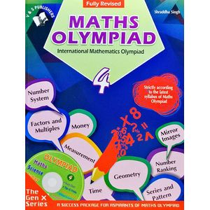 International Maths Olympiad Class 4 With Cd By Shraddha Singh-(English)